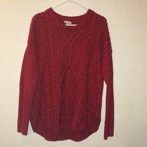 Merona Red Sweater szLarge